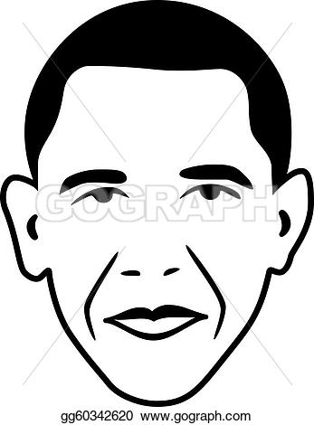 Vector Clipart - Vector barack obama - p-Vector Clipart - Vector barack obama - president of usa. Vector Illustration gg60342620-10