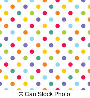 Vector colorful polka dots pattern - Seamless vector pattern.