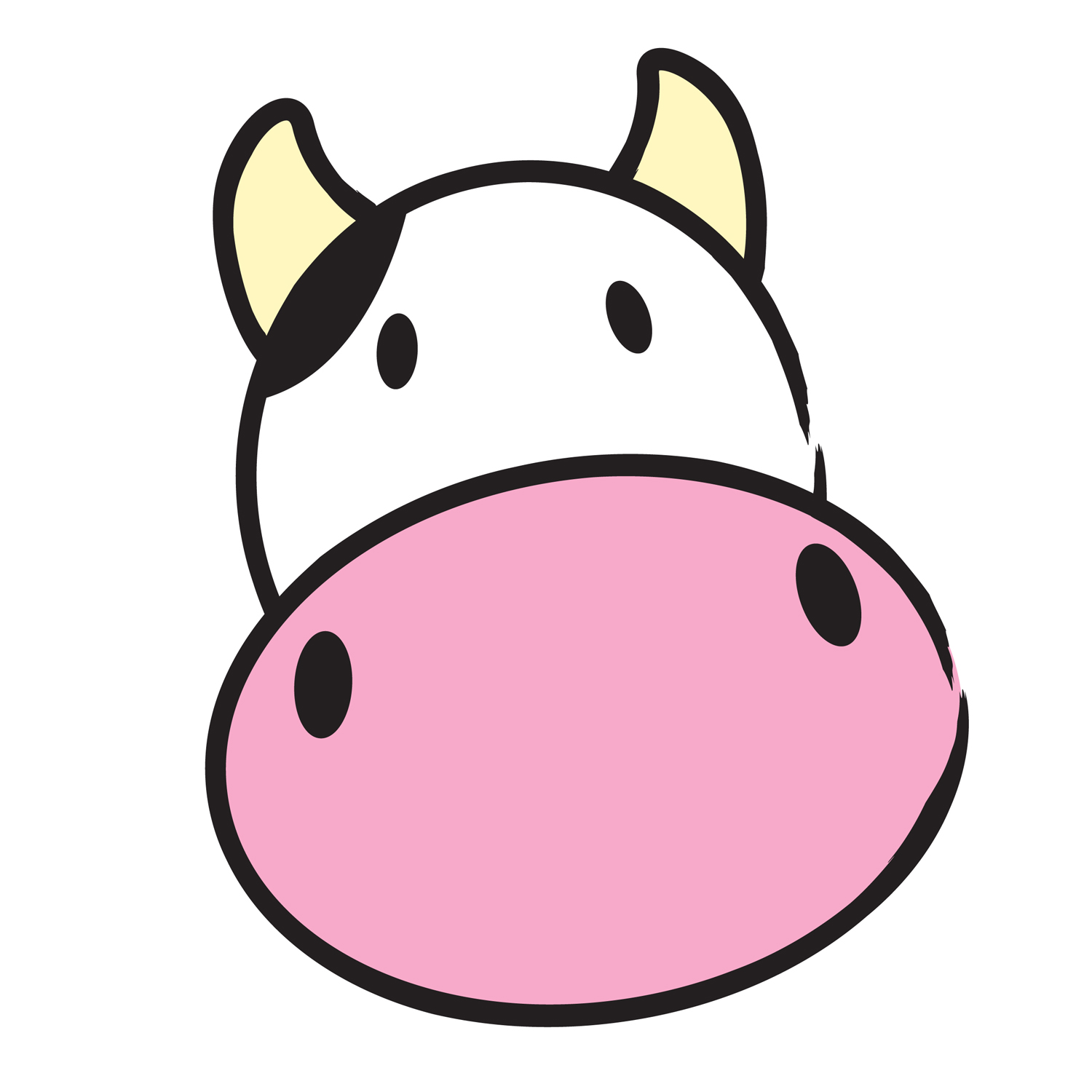 Vector - cow head. moo clipart-Vector - cow head. moo clipart-3