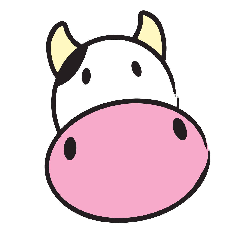 Vector - cow head. moo clipart