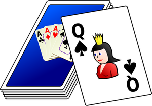Vector drawing of color deck of cards-Vector drawing of color deck of cards-8