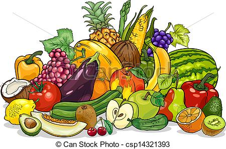 Vector - Fruits And Vegetables .-Vector - fruits and vegetables .-13