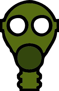 vector Gas Mask clip art .