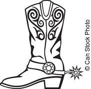 Vector graphic image Clip Artby GeraKTV30/1,430; cowboy boot