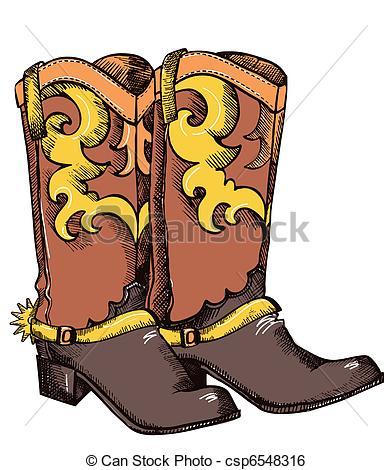 Vector Graphic Image - Cowboy Boots .Vec-Vector graphic image - Cowboy boots .Vector.-19