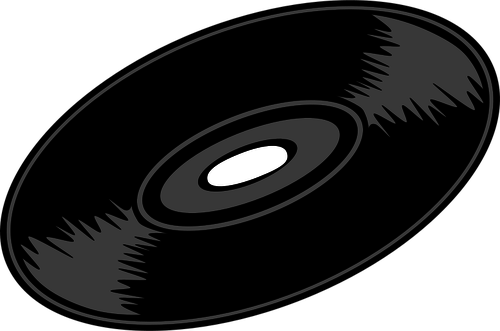Vector graphics of vinyl record