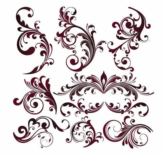 Vector Graphics | Vector Floral Design E-Vector Graphics | Vector Floral Design Elements | Free Vector Graphicsy | All Free Web .-5