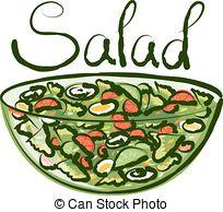 ... Vector Green Salad - vector salad with calligraphic... Vector Green Salad Clip Artby ...