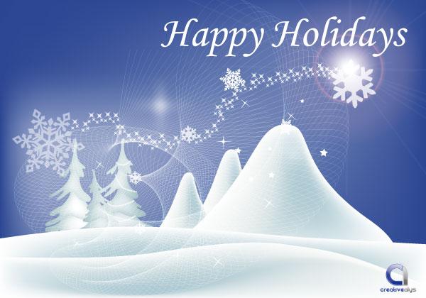 Vector Happy Holidays .