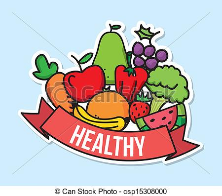 Vector Healthy Food Stock Illustration Royalty Free Illustrations