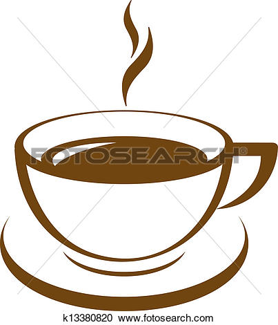 Vector icon of coffee cup - Clipart Coffee Cup
