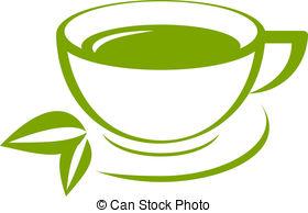 ... Vector icon of green tea cup
