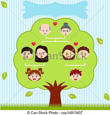 ... Vector Icons: Family Tree, A diagram on a genealogical tree,.