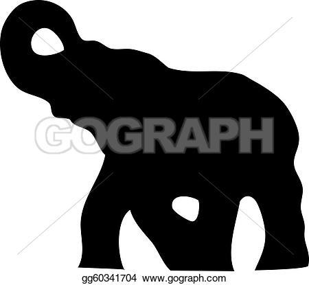 Vector Illustration - Elephant silhouette. EPS Clipart gg60341704