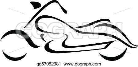 Vector Illustration - Motorcycle silhouette for emblem. vector format. Stock Clip Art gg57052981