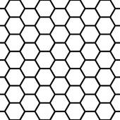 Vector illustration of honeycomb u0026middot; Seamless black honeycomb pattern over white