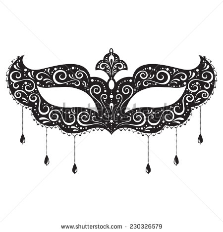 Vector illustration of the masquerades mask isolated on white background.