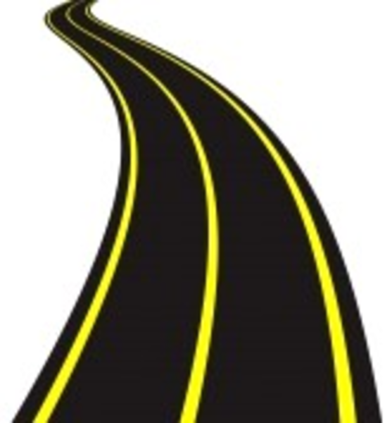 Vector Illustration Of Winding Road imag-Vector Illustration Of Winding Road image - vector clip art online-12