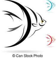 Vector Image Of An Angel Fish On White B-Vector image of an angel fish on white background-18