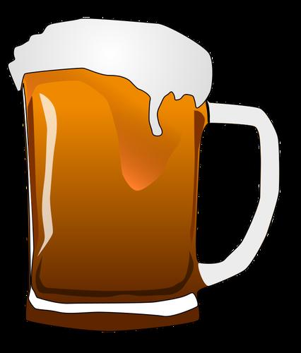 Vector image of beer mug