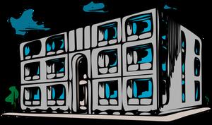 Vector image of condo building