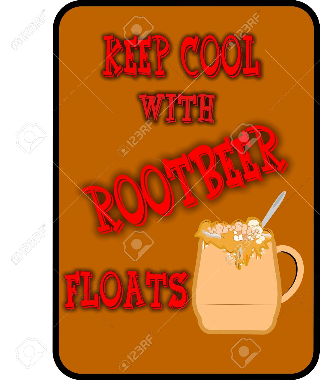Vector - keep it cool root beer floats background