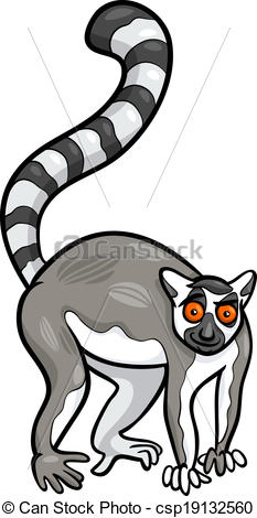 Vector - lemur animal cartoon .