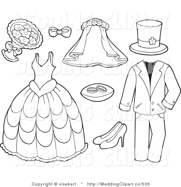 Vector Marriage Clipart of .
