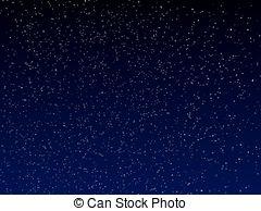 ... vector night sky - vector dark blue night sky with stars