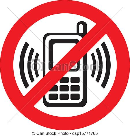 Vector - no cell phone sign