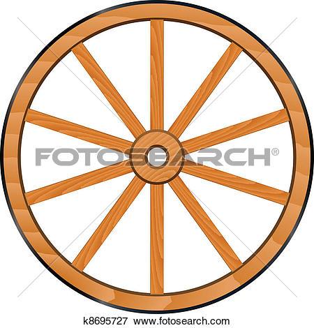 vector old Wooden Wheel