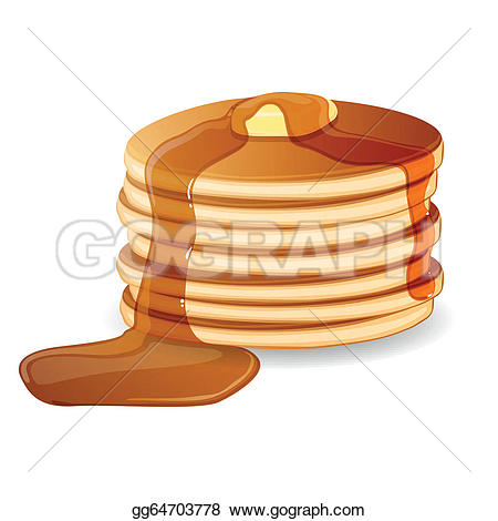 ... Vector Pancakes with Maple Syrup and-... Vector Pancakes with Maple Syrup and Butter-6