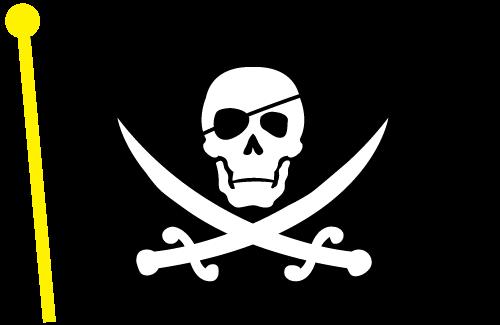 Vector Pirate Flag Clip Art-Vector Pirate Flag Clip Art-0
