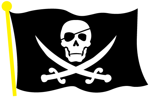 Vector Pirate Flag Clip Art