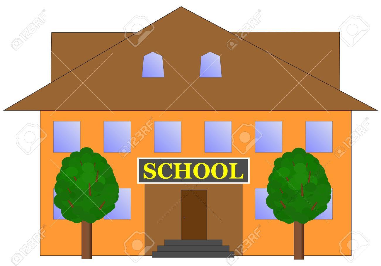 Vector - school building .