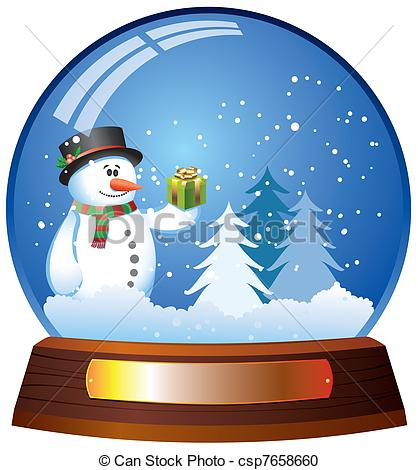 Vector - snow globe with .