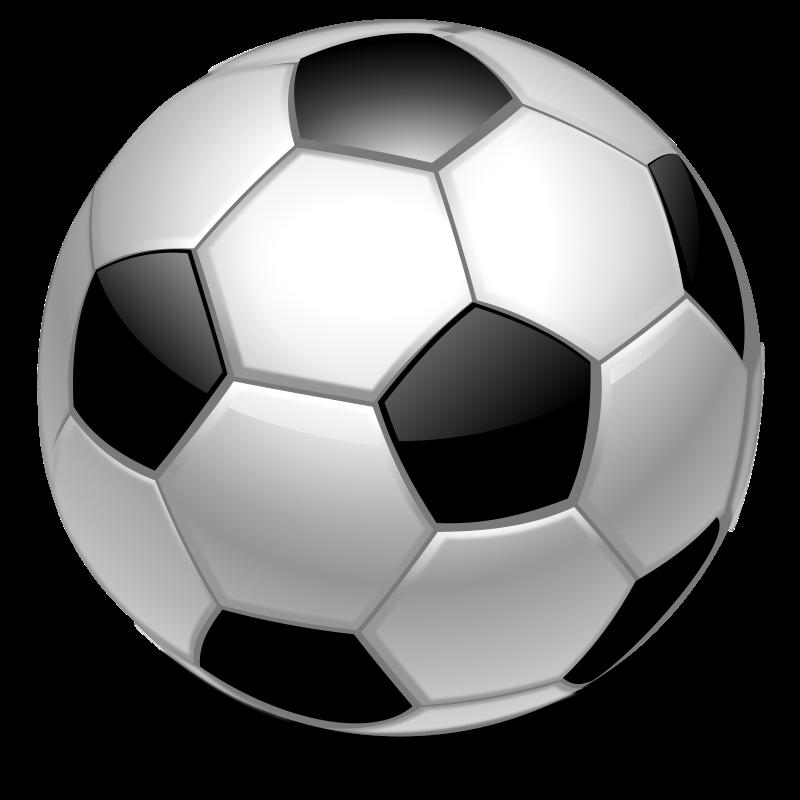 Vector soccer ball clip art .