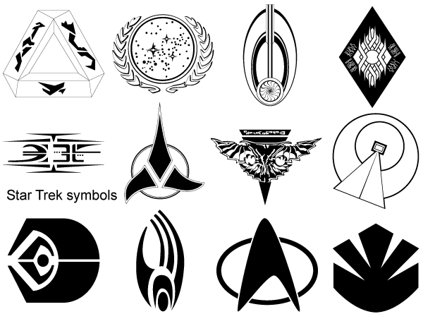 Vector Star Trek Symbols