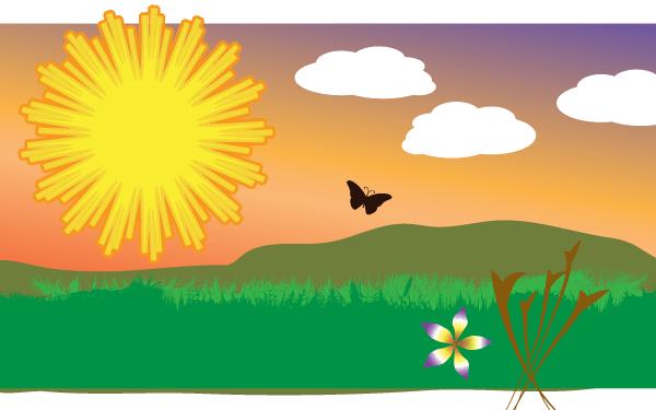 Vector Sunny Field Clip Art Freevectors-Vector sunny field clip art freevectors-15
