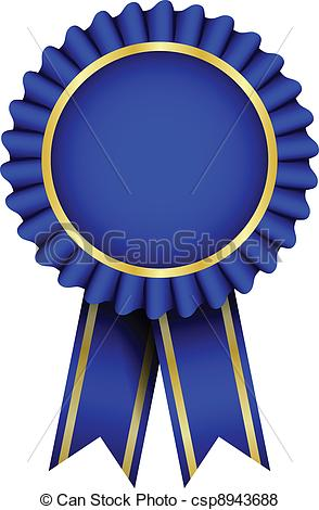 Vector Vector Blue Badge With Ribbon Stock Illustration Royalty