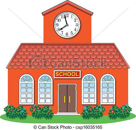 Vector Vector Country School Building Stock Illustration Royalty