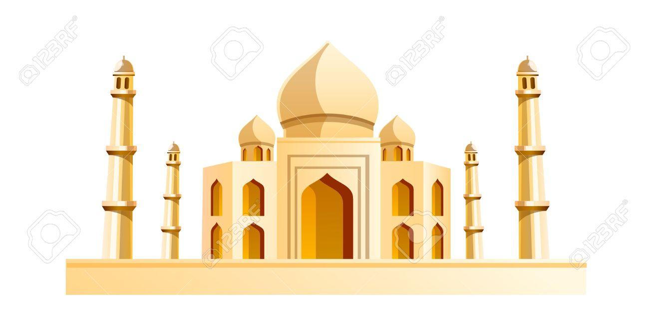 Vector - vector icon Taj Mahal
