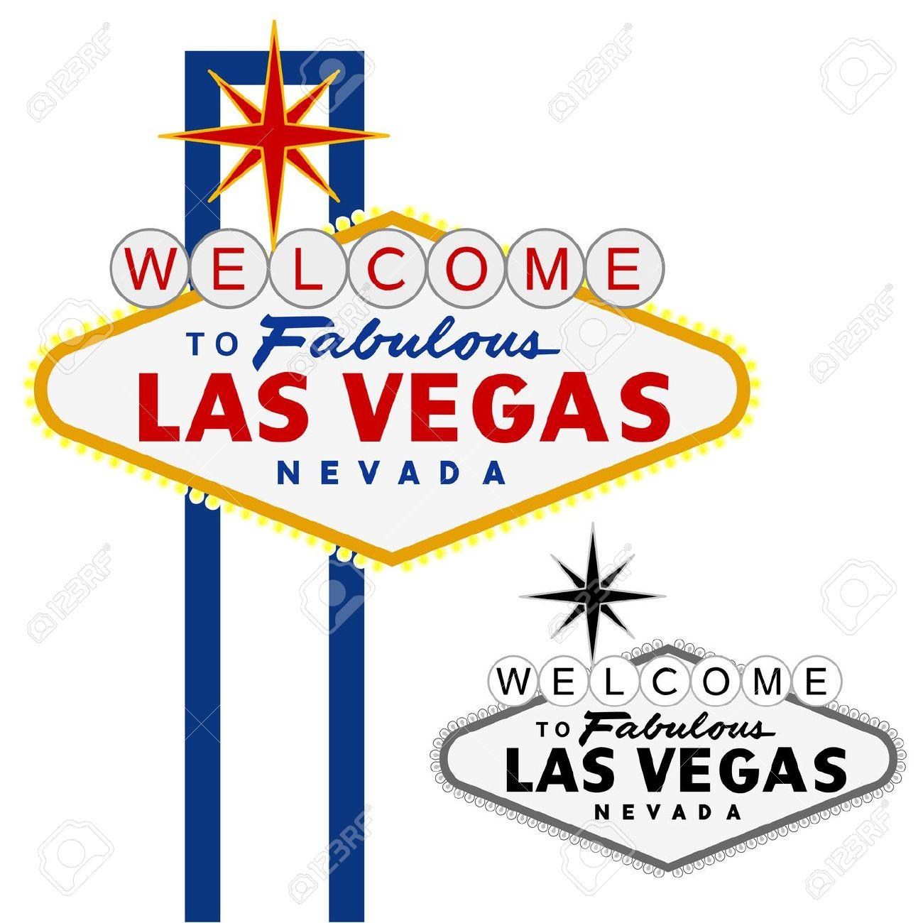 Vector - vector Las Vegas sign .