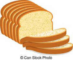 ... vector white bread slices