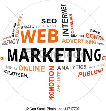 Vector - word cloud - web marketing