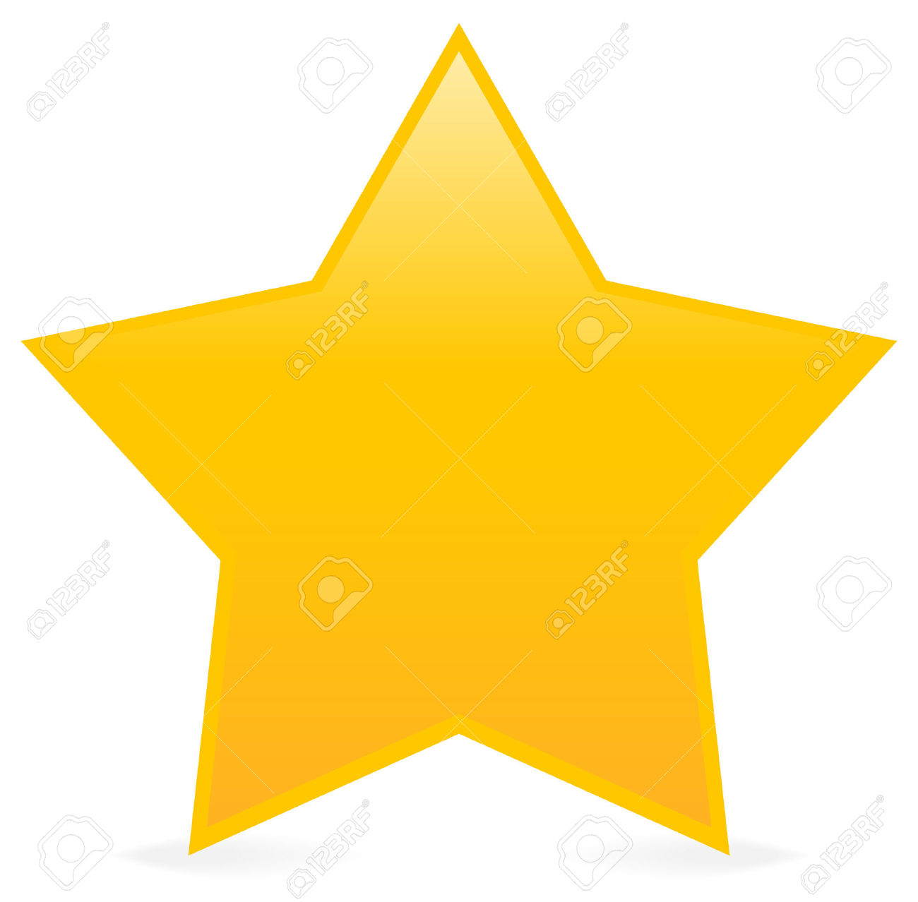 Vector - Yellow Star Isolated .-Vector - Yellow star isolated .-6