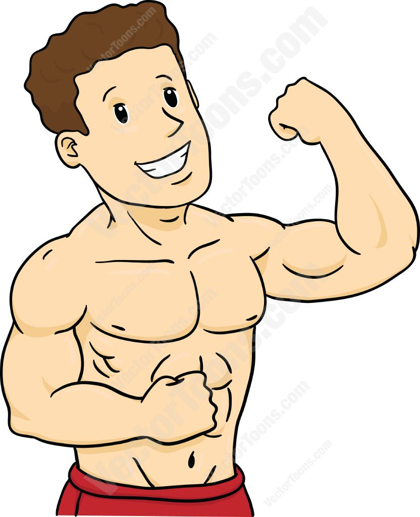 VectorToons clipartall.com · Muscle Man .