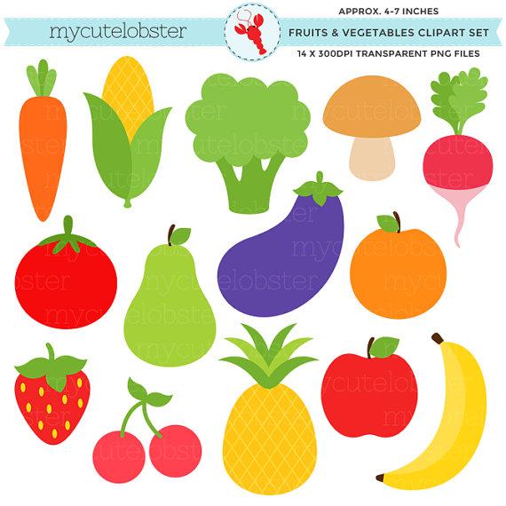 Fruits u0026 Vegetables Clipa - Vegetable Clipart
