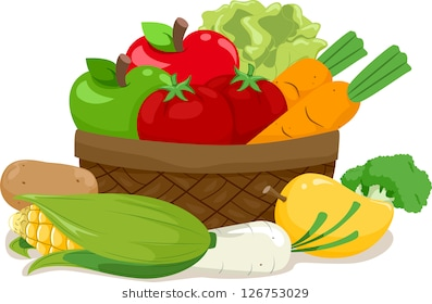 Vegetables clipart digital ve
