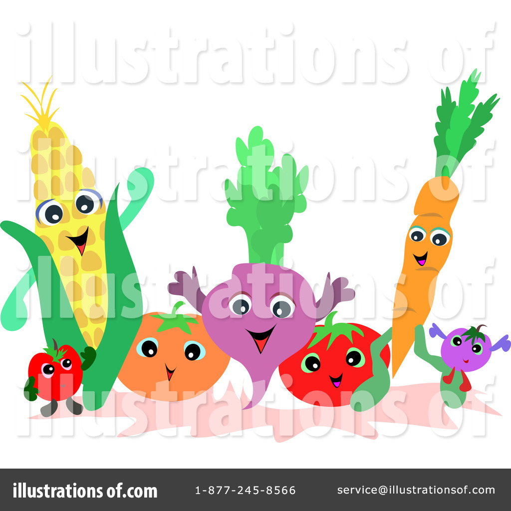 Royalty-Free (RF) Veggies Clipart Illustration #64622 by bpearth